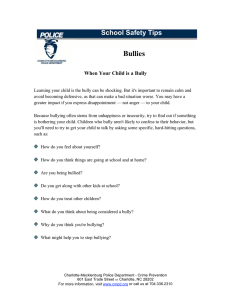 Bullies School Safety Tips  When Your Child is a Bully