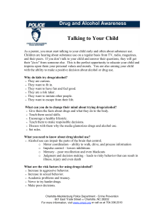 Talking to Your Child Drug and Alcohol Awareness