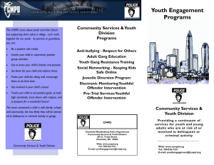 Youth Engagement Programs Community Services & Youth Division