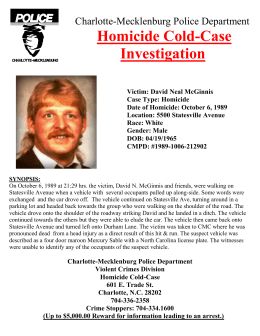 process of a homicide case essay All of the unusual suspects cases have one thing in common - experienced investigators no matter how complicated or seemingly obvious a case may be, good detectives will always approach the investigation in the same methodical way and as the show proves, this tried and tested method is the best way to catch a murderer.