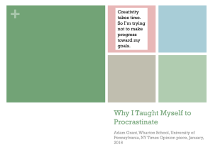 + Why I Taught Myself to Procrastinate Creativity