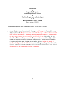 Addendum #5 for Request for Proposals For Parking and Valet Services