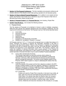 Addendum # 1: RFP 2013-12-001 Computerized Parking Valet System December 11, 2013