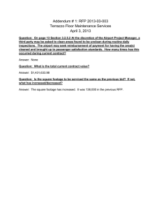 Addendum # 1: RFP 2013-03-003 Terrazzo Floor Maintenance Services April 3, 2013