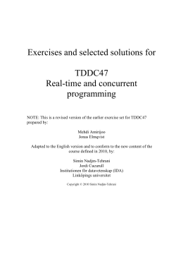 Exercises and selected solutions for TDDC47 Real-time and concurrent