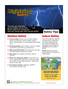 Lightning Safety Safety Tips