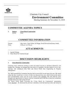 Environment Committee  COMMITTEE AGENDA TOPICS COMMITTEE INFORMATION