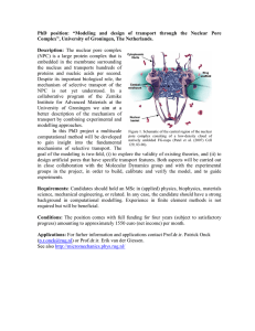 "PhD  position:  ""Modeling  and  design ... Complex"", University of Groningen, The Netherlands."