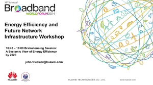 Energy Efficiency and Future Network Infrastructure Workshop