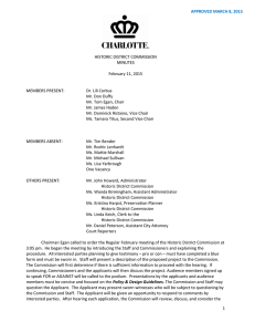 HISTORIC DISTRICT COMMISSION MINUTES February 11, 2015
