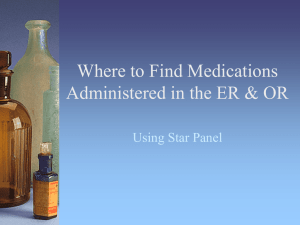 Where to Find Medications Administered in the ER & OR