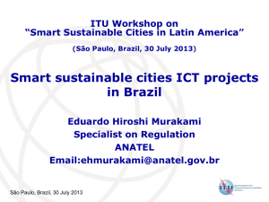 Smart sustainable cities ICT projects in Brazil