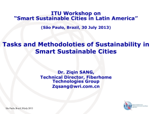 Tasks and Methodoloties of Sustainability in Smart Sustainable Cities ITU Workshop on