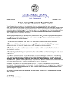 MECKLENBURG COUNTY Water Damaged Electrical Requirements Land Use and Environmental Service Agency