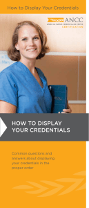 How to display your credentials How to Display Your Credentials Common questions and