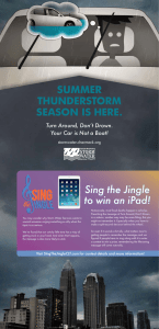 Sing the Jingle to win an iPad! Summer ThunderSTorm