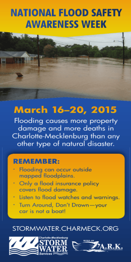 NATIONAL FLOOD SAFETY AWARENESS WEEK March 16–20, 2015