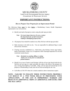 MECKLENBURG COUNTY IMPORTANT INSTRUCTIONS:  Land Use & Environmental Services Agency