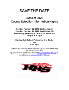 SAVE THE DATE  Class of 2020  Course Selection Information Nights