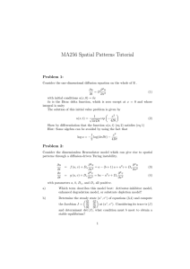 MA256 Spatial Patterns Tutorial Problem 1: