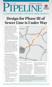 Design for Phase III of Sewer Line is Under Way
