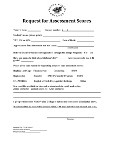 Request for Assessment Scores