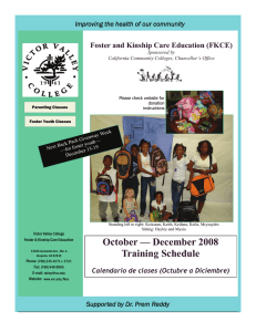 Foster and Kinship Care Education (FKCE)  Sponsored by