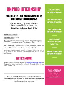UNPAID INTERNSHIP FLAIR LIFESTYLE MANAGEMENT IS LOOKING FOR INTERNS!