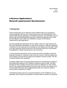 e-Science Applications: Network-requirements Questionnaire