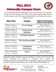 FALL 2013 University Campus Tours