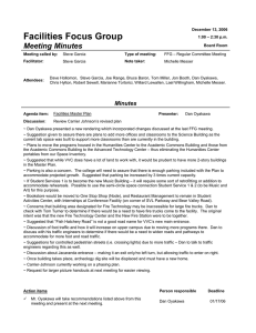 Facilities Focus Group Meeting Minutes