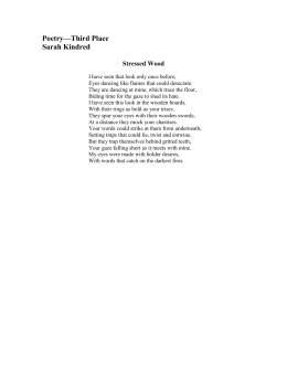 Poetry—Third Place Sarah Kindred  Stressed Wood