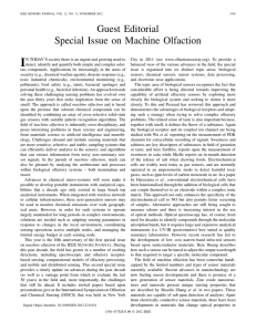I Guest Editorial Special Issue on Machine Olfaction