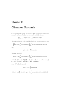 Girsanov Formula Chapter 9