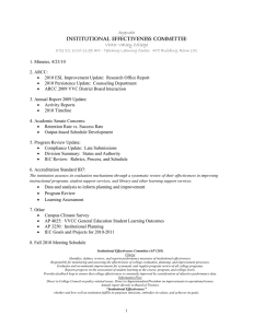 Agenda INSTITUTIONAL EFFECTIVENESS COMMITTEE