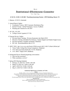 Institutional Effectiveness Committee TzxÇwt
