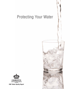 Protecting Your Water 2007 Water Quality Report