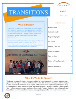 TRANSITIONS What is Puente?