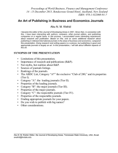 Proceedings of World Business, Finance and Management Conference