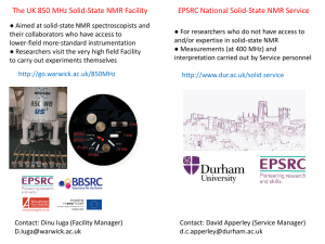 The UK 850 MHz Solid-State NMR Facility