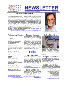 NEWSLETTER  Jim Gray Public Lecture