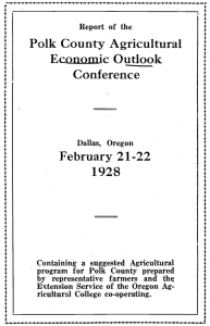 Polk County Agricultural Economic Outlook February 21-22 Conference
