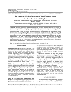 Research Journal of Information Technology 3(1): 43-48, 2011 ISSN: 2041-3114