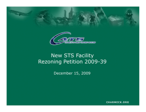 New STS Facility Rezoning Petition 2009-39 December 15, 2009