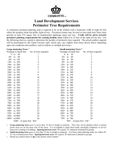 Land Development Services Perimeter Tree Requirements