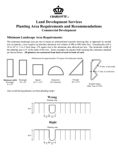 Land Development Services Planting Area Requirements and Recommendations Commercial Development