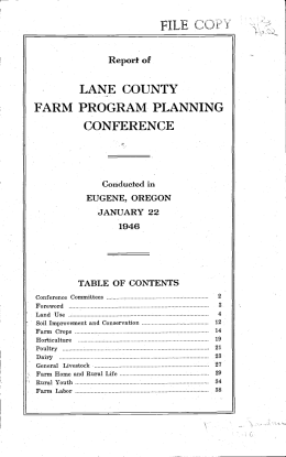 FARM PROGRAM PLANNING LANE COUNTY CONFERENCE FIL