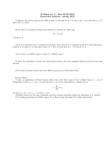 Problem set 2 - Due 03/05/2012 Functional analysis - spring 2012