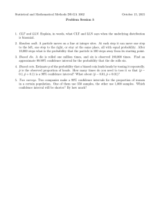 Statistical and Mathematical Methods DS-GA 1002 October 15, 2015 Problem Session 5