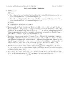 Statistical and Mathematical Methods DS-GA 1002 October 15, 2015